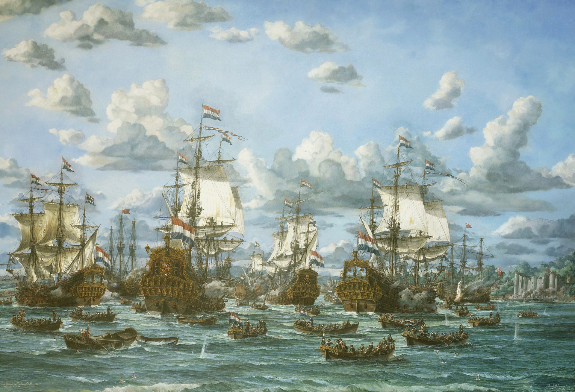 The Raid on the River Medway 1667
