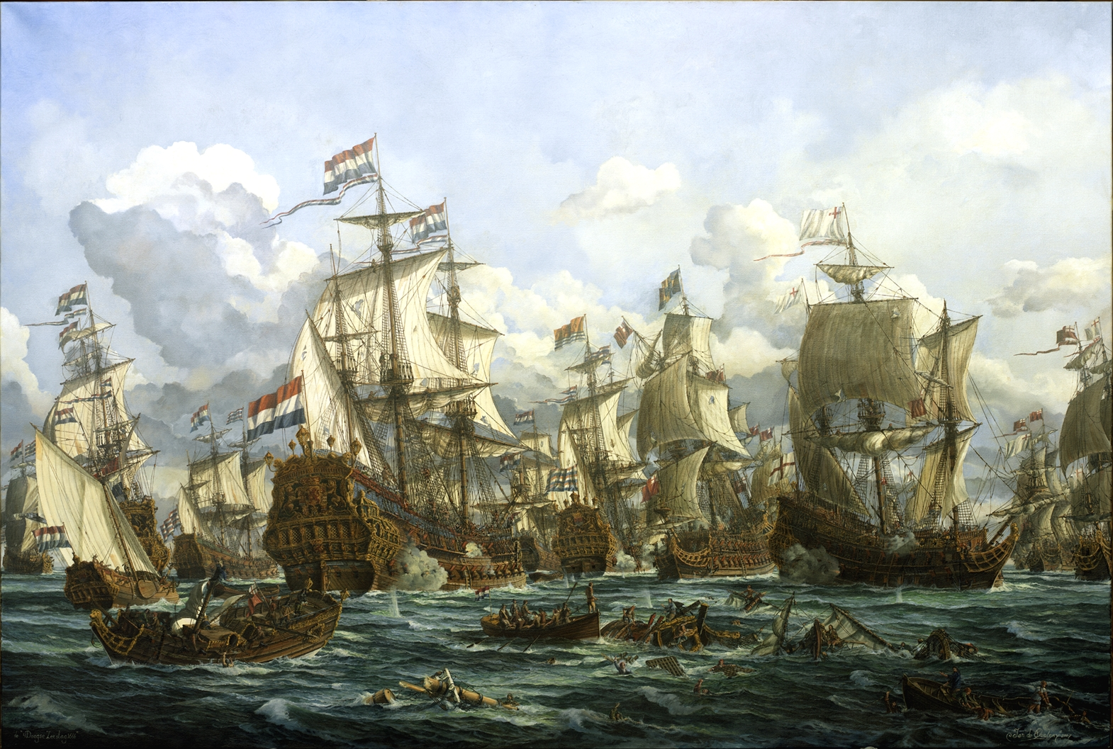 The four day's sea battle 1666