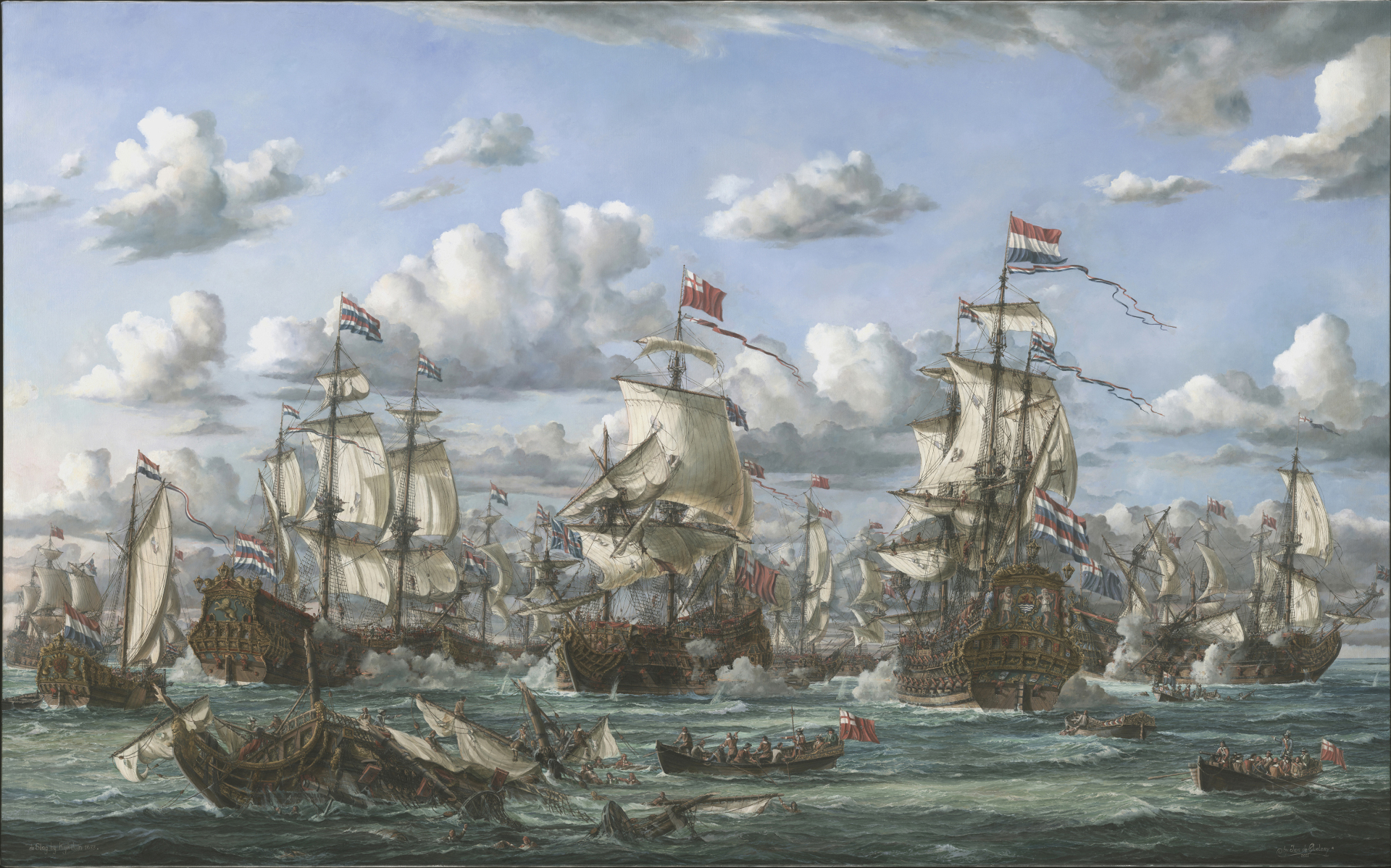 The battle of Texel 1673