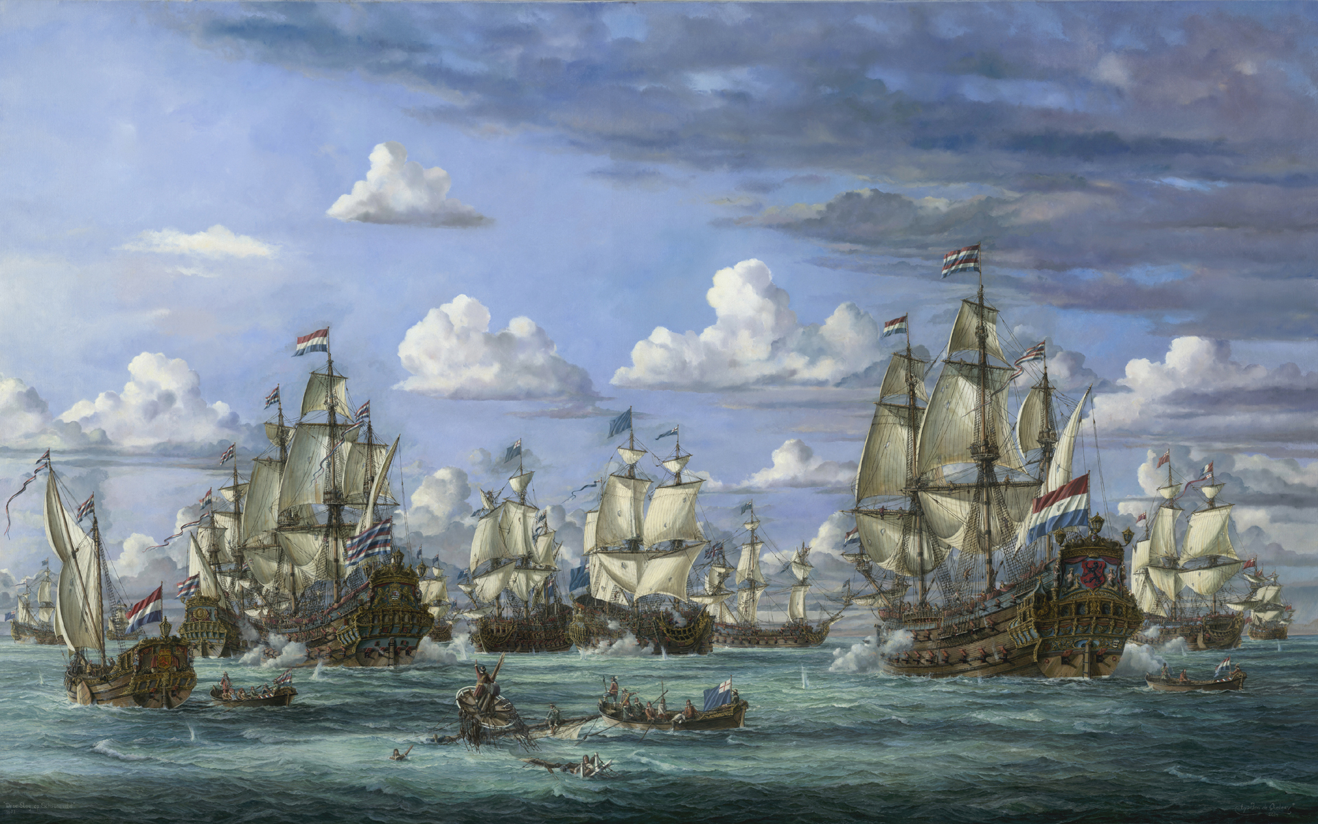 The battle of Schooneveld 1673
